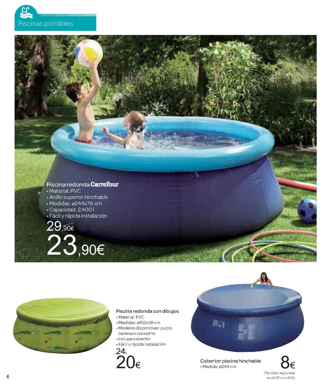 Ofertas carrefour for Piscinas carrefour