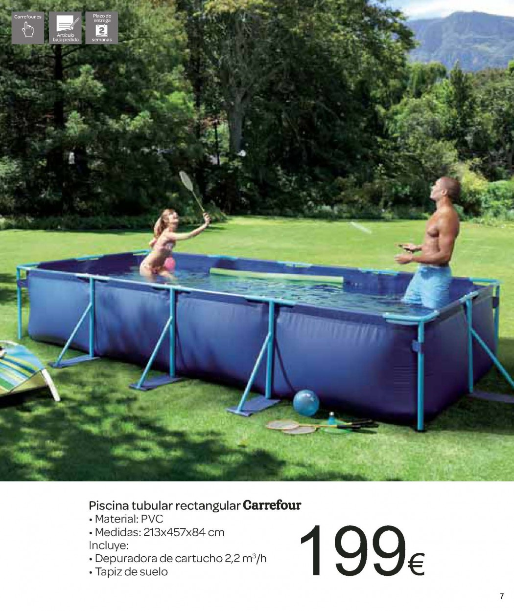 Catalogo carrefour junio 2012 especial piscinas y jardin for Piscinas jardin carrefour