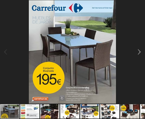 Cat logo carrefour especial muebles de jard n 2013 for Catalogo carrefour muebles
