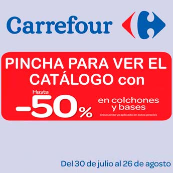 Catálogo Carrefour especial colchones y bases 2013