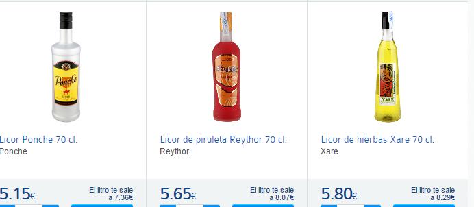 Licores- Carrefour España