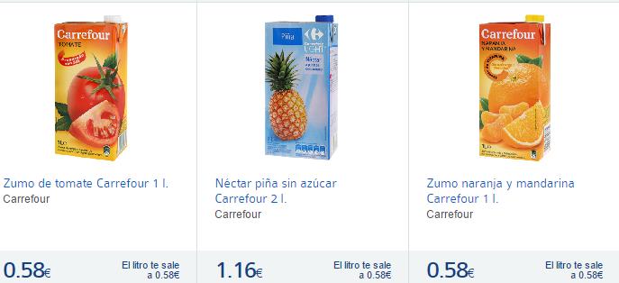 Zumos- Carrefours España-