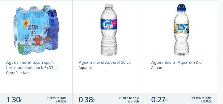 agua mineral chicas-Carrefour España