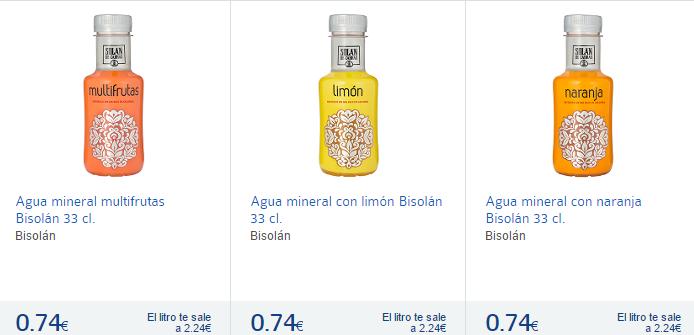 Agua multifruta en Carrefour España