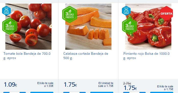 verdura a la parrilla-Carrefour España-