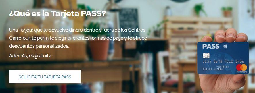 acceso a la tarjeta con Pass de Carrefour